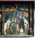Detail of the gothic altarpiece.